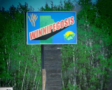 Big sign Winnipegosis