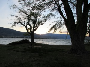 An Okanagan sunset from N'kmip campground