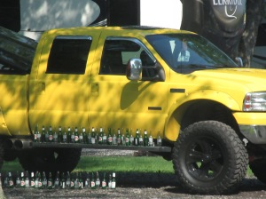 Quebec yellow beer truck