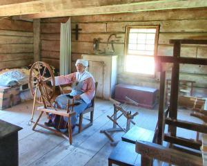 Lady on the loom