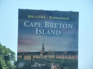 Cape Breton sign