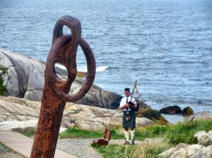A piper at Peggys