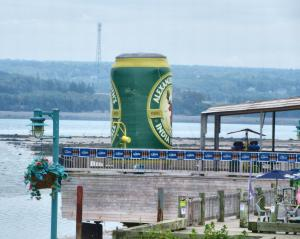 Giant beer can
