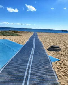 Runway on sand