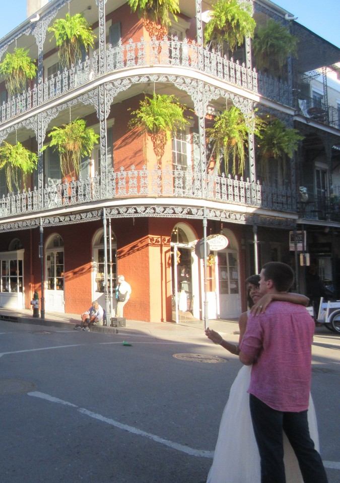 Wedding day in the big easy