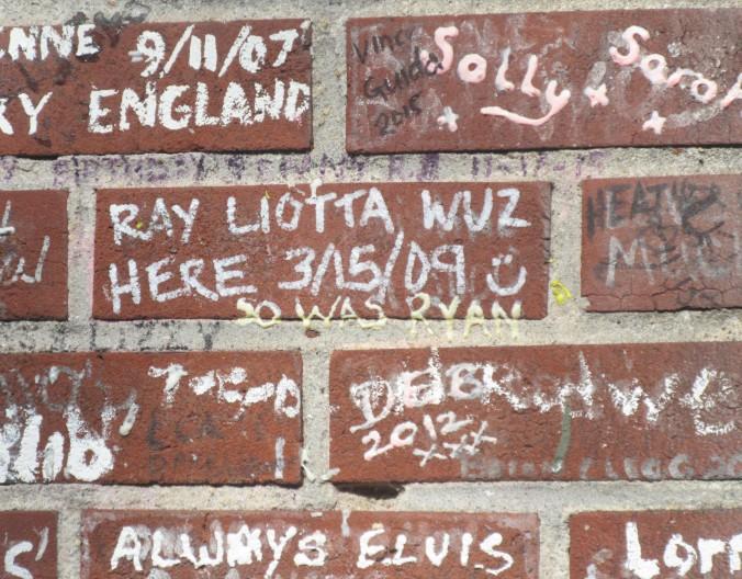 bricks on gate